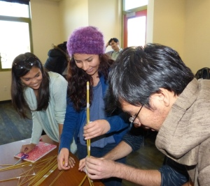 Ana Corbacho's workshops for visiting community college students inspire teambuilding.