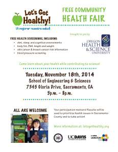 Let's Get Healthy! Community health fair publicity flyer
