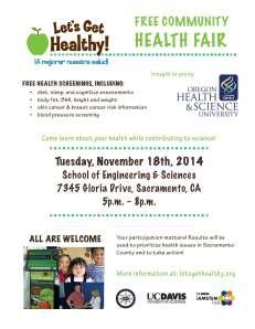 Let's Get Healthy! Community health fair publicity flyer